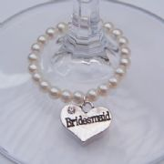 Bridesmaid Wine Glass Charm - Full Bead Style